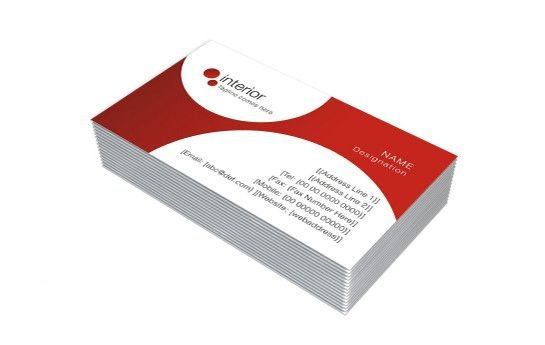 One Sided Visiting Card  Design Sample